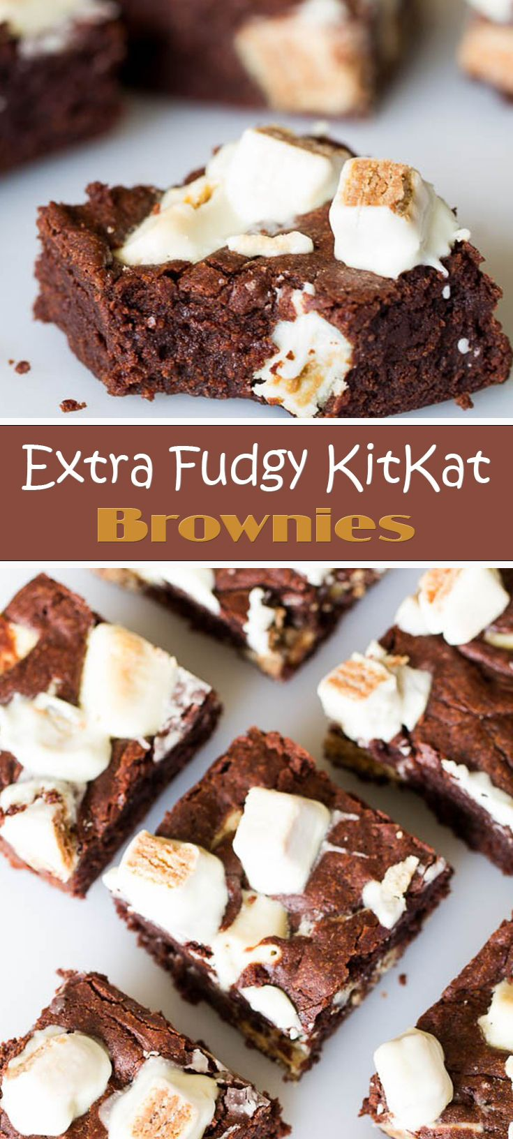 Extra Fudgy KitKat Brownies