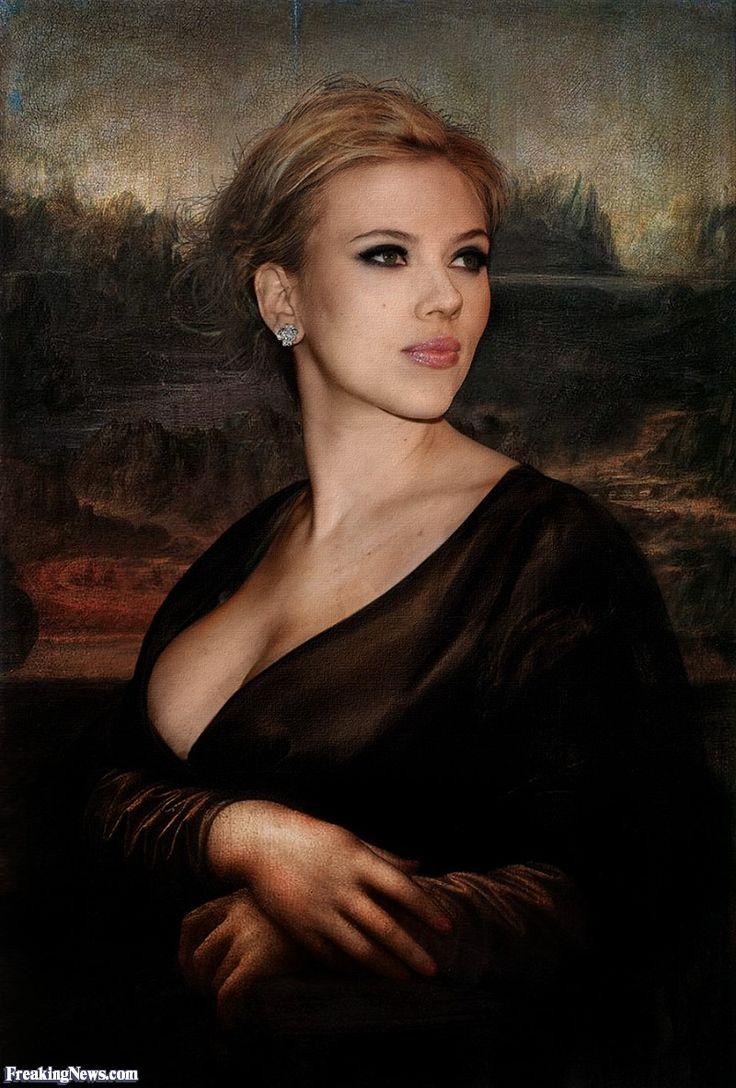 Scarlett Johansson as Mona Lisa La JocondeParo Mona LisaScarlett