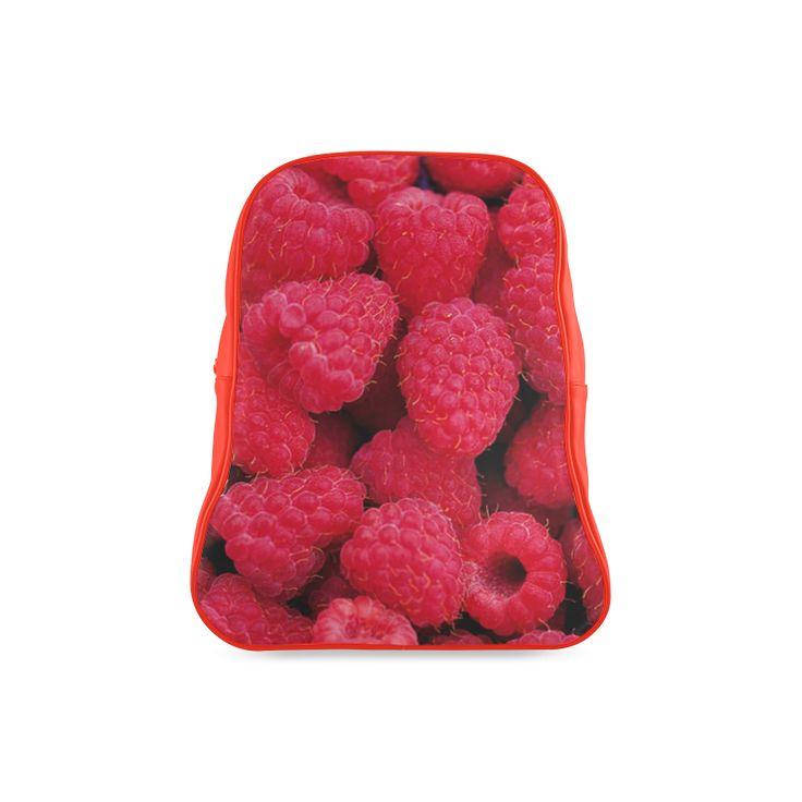 Raspberries School Backpack. FREE Shipping. #artsadd #lbackpacks #fruits