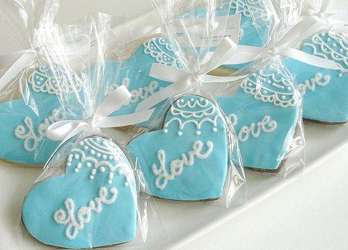 Indian Wedding Inspirations: Blue Wedding Cookies. Repinned by #indianweddingsmag IndianWeddingsMag.com