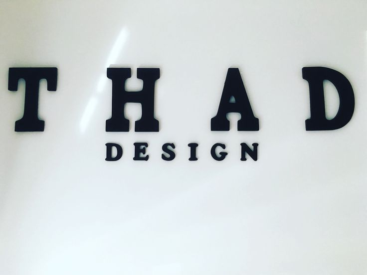 Our new sign is on the wall! #thaddesign