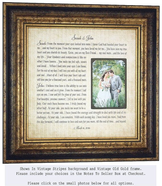 Vows Wedding Gift For Him Her 1st Anniversary Gift Wedding Vows Photo Mat