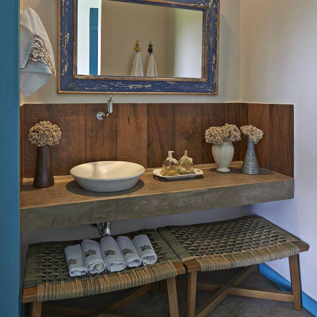 Bagno Rustico Interior Design Idee E Foto L