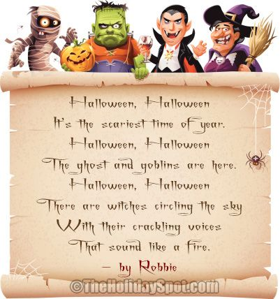 contains spooky poems fit to be enjoyed on the halloween eve - Funny Halloween Poems For Kids