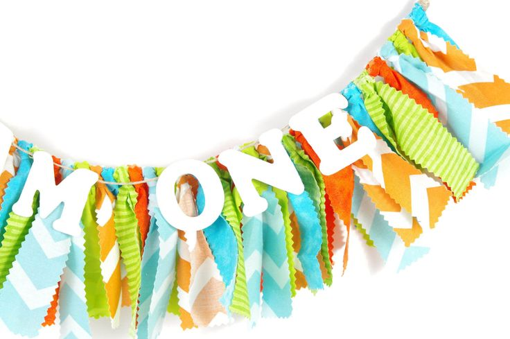 Aqua, Lime and Orange Birthday Party Decor - Monsters Inc. - Little Monster - Banner - Garland - Photoshoot Prop by DuryeaPlaceDesigns on Etsy