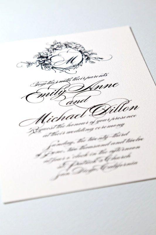 Invito a nozze Monogram stampabile - monogramma