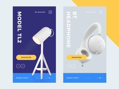 Product App UI #MobileWebDesign