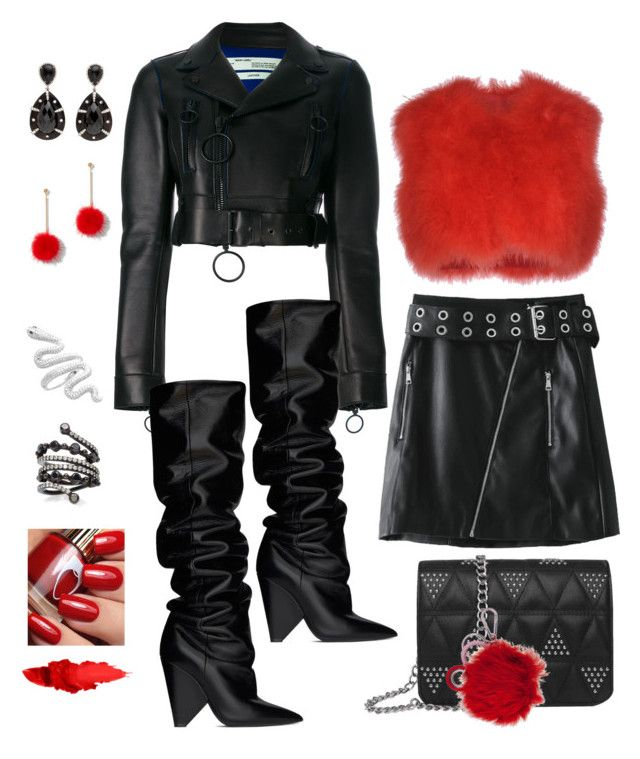 """""""Untitled #824"""" by lianatzelese on Polyvore featuring Off-White, Yves Saint Laurent, Colette Jewelry, RED Valentino, Marni and New York & Company"""