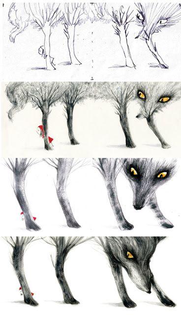 Adolfo Serra. Little Red Ridding Hood´s process,