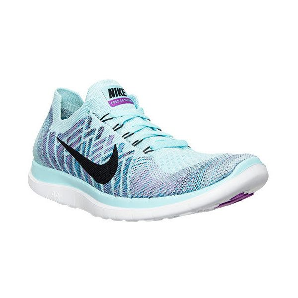 Women's Nike Free 4.0 Flyknit Running Shoes ($120) ❤ liked on Polyvore featuring shoes, athletic shoes, running shoes, nike, nike footwear, holiday shoes ve evening shoes