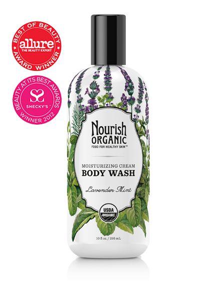 Nourish Organic Body Wash (leaping bunny certified, organic, and vegan!) - Allure 2014 Award Winner