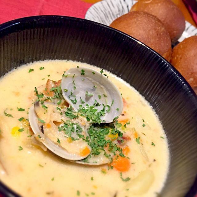 レシピとお料理がひらめくSnapDish - 23件のもぐもぐ - New England Clam And Corn Chowder.ニューイングランドクラム&コーンチャウダー by Sayaka Jinsenji Hulette
