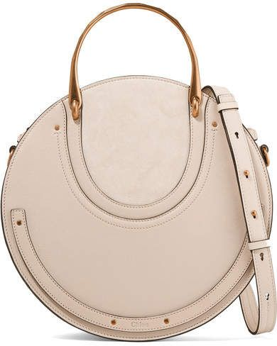 695b13256eb8 Chloé Pixie Large Suede And Textured-leather Shoulder Bag - Ecru ...
