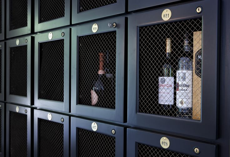 liquor lockers-- Frosted Glass