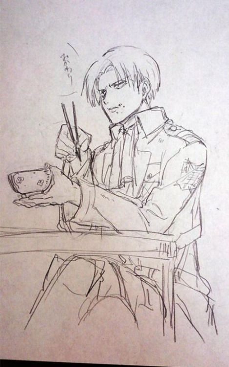 Levi using chopstick. Now that. Is Rare!