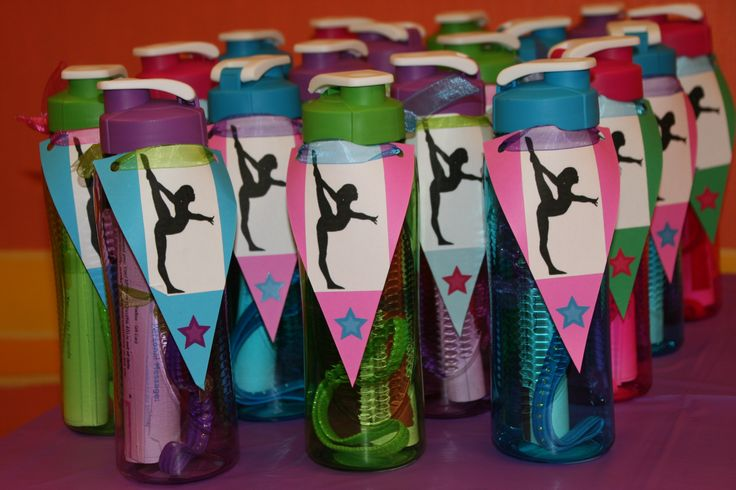 Gymnastics party favors...