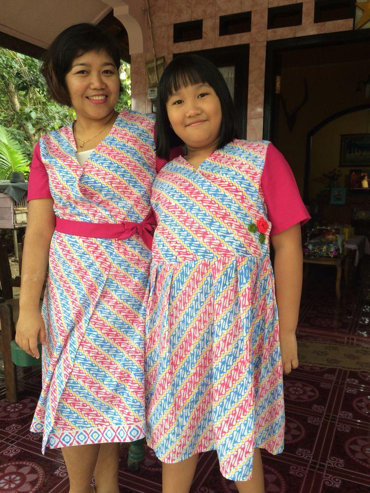 Batik wrap dress by Me #sewing #batik #parang #love