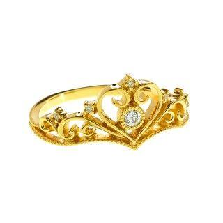 Cincin Berlian dan Emas 75% Golden Crown