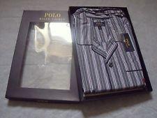 Polo Ralph Lauren Mens Sutton Stripe 100% Cotton Pyjamas - Large / Gift for him