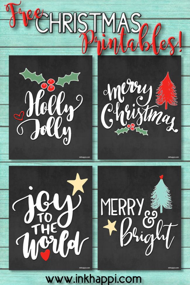 Super Cute free Christmas printables!