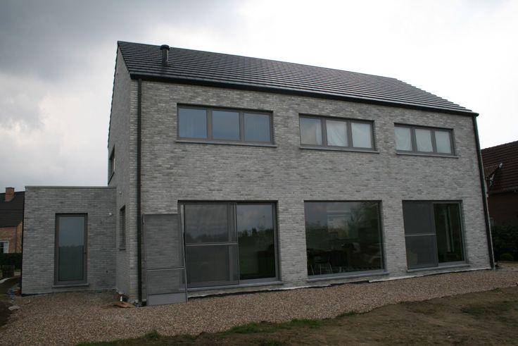 Grijze gevelsteen nieuw huis inspiration new home pinterest gevel gevels en huis idee n - Modern stenen huis ...