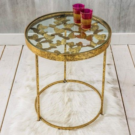 Gold Butterfly Side Table | Furniture | Graham and Green