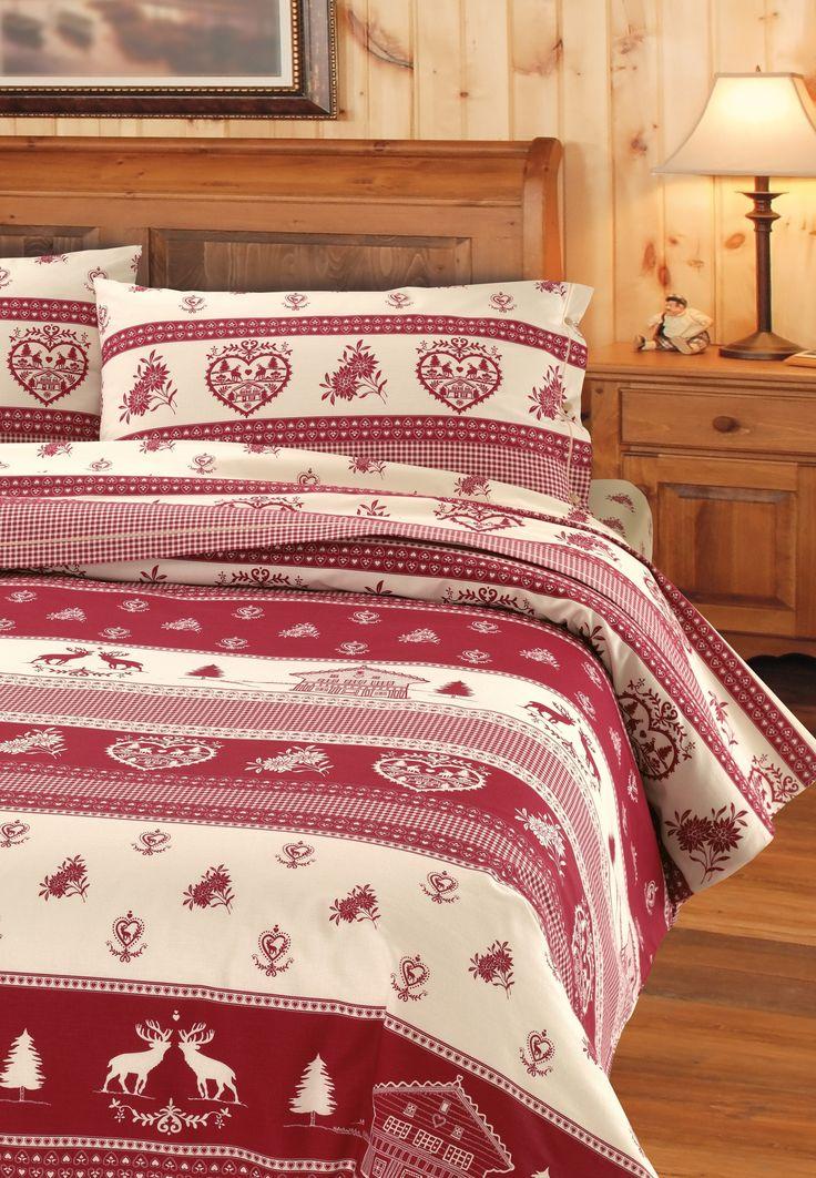 Dieses Bettwäsche-Set begeistert durch das winterliche Motiv und die warmen Farben in jedem Schlafzimmer.