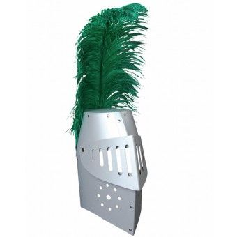 Siver knight helmet with feather for children http://www.toyestate.com/en/games-and-theatre/theatre/knight-helmet-silver-with-feather.html