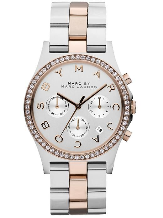 Marc Jacob watch with rose gold accents. Maybe someone will buy me this for Christmas?!