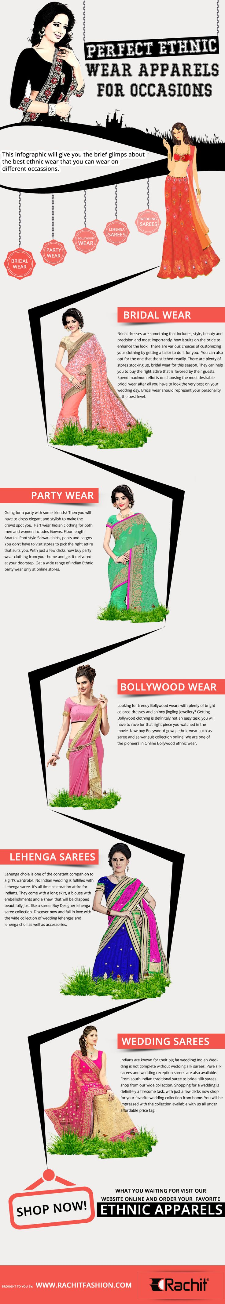 Perfect Ethnic Wear Apparels for Occasions.  #ethnicwear #apparels #womensfashion #clothing