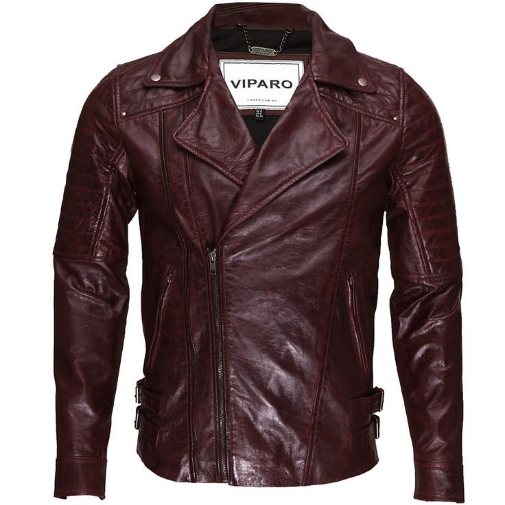 Oxblood Red Moto Quilted Quilt Leather Biker Coat Jacket - MB3 | by VIPARO