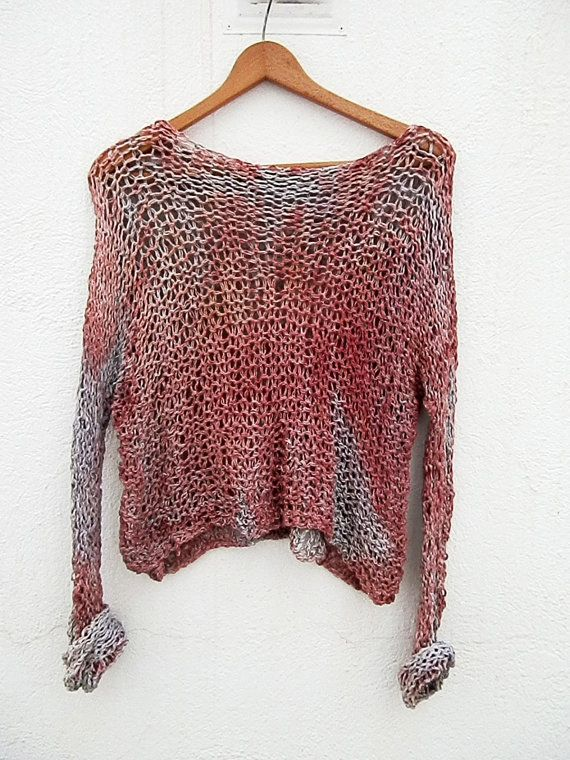 Hand Knitted Sweater by armarioenruinas on Etsy