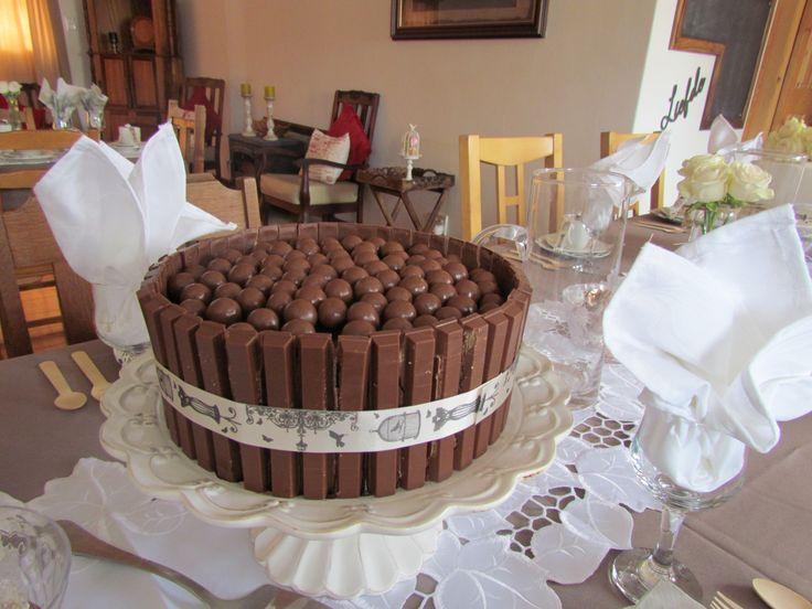 Kit Kat & whispers moist chocolate mouse cake