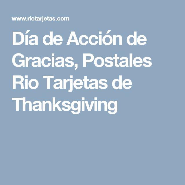 Día de Acción de Gracias, Postales Rio Tarjetas de Thanksgiving