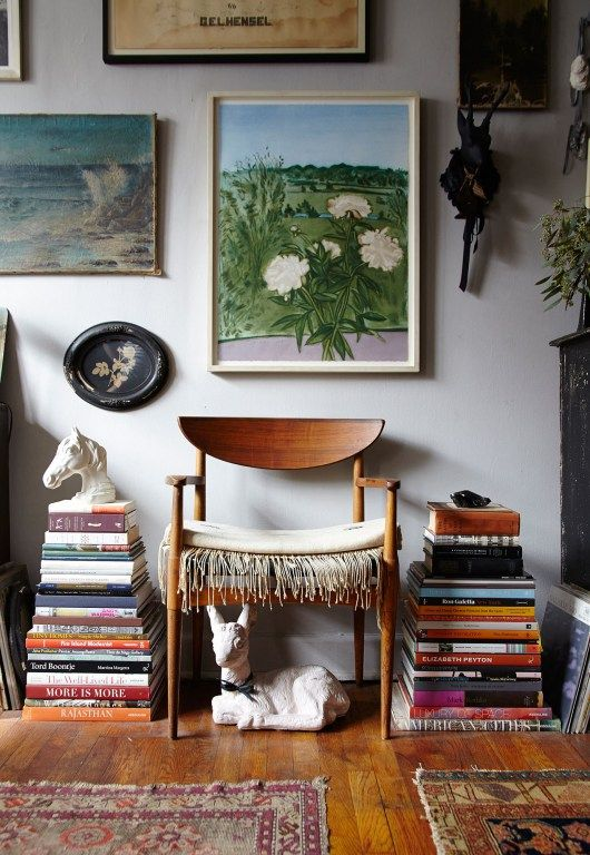 Books and paintings