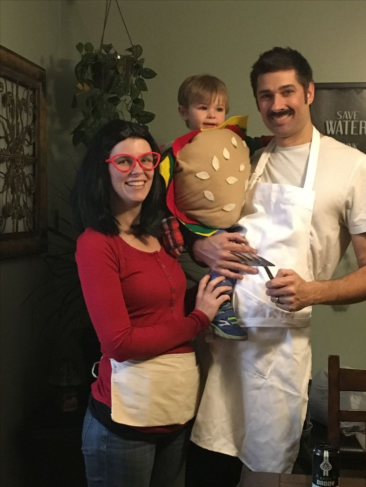 Bobs burger costume. Hamburger made of felt. Buns made of fleece, stuffed with plastic bags. Yes! And used ribbon for top and ties on the sides so he wouldn't escape. His costume was a hit! Parents asked where I got it.