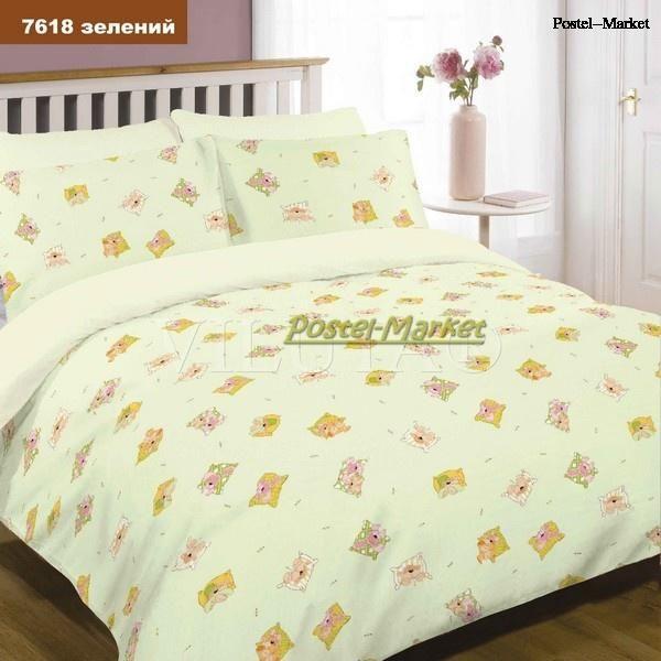 Детское постельное белье 7618 зеленое купить в Постель Маркет (Киев)