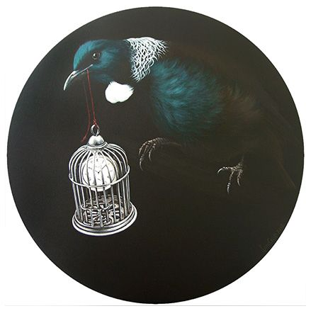 The Space Within - New Zealand Tui by artist Jane Crisp. www.imagevault.co.nz