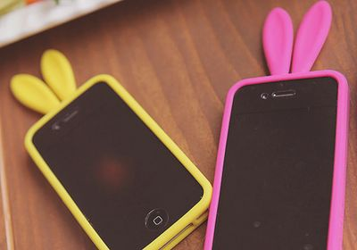 Imagen de iphone, pink, and yellow
