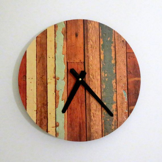 Cottage Chic Clock, Autumn Orange,  Decor and Housewares, Housewarming Gift, Home and Living, Shabby Chic, Home Decor, Unique Gift Idea