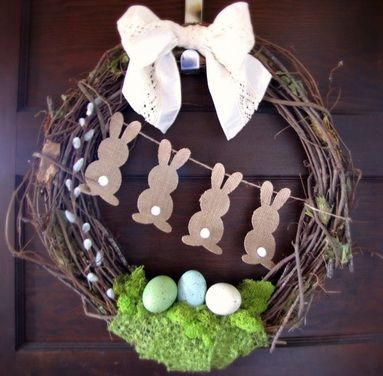 627 best PAQUES images on Pinterest Easter crafts, Easter ideas - idee deco porte d entree