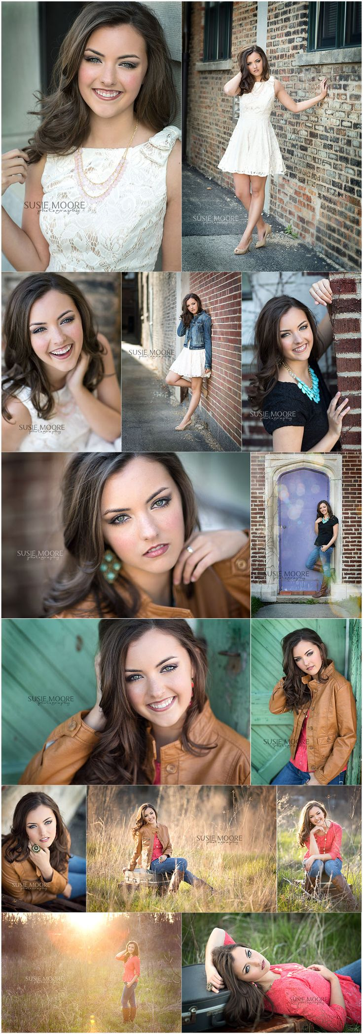 Susie Moore Photography | Illinois' and Chicago's Best Senior Photographer. Love the top ones
