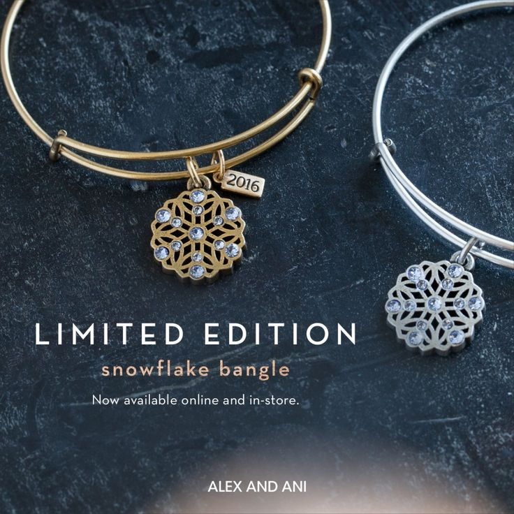 ALEX AND ANI Limited Edition Snowflake Charm bangle |  Black Friday Exclusive |