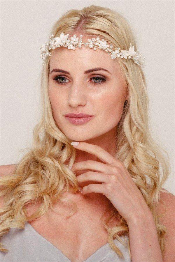 Wedding Pearl Flower Crown Bridal Hair Accessory – Helen Irene Handmade