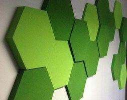 Pomysł na ścianę, aranżacja ściany (projekt: www.tryc.net.pl) - zdjęcie od Fluffo, Fabryka Miękkich Ścian