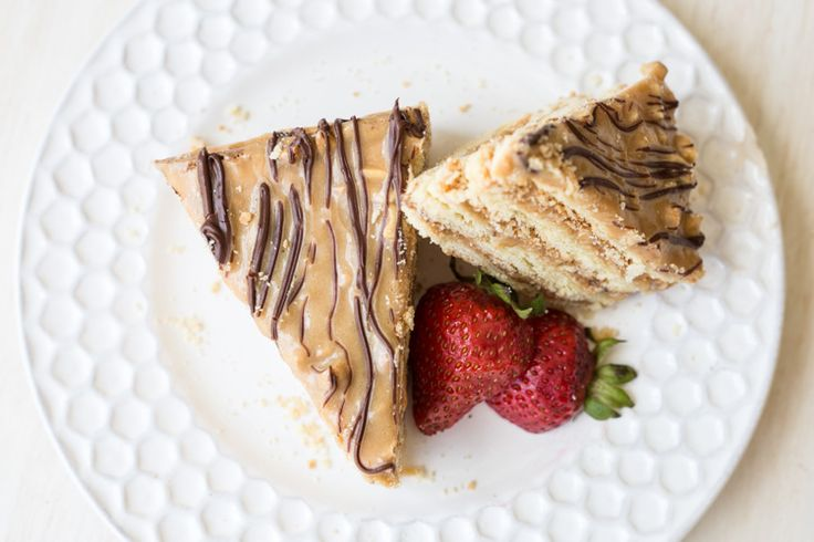Layered Snickers Cake Recipe. ValentinasCorner.com