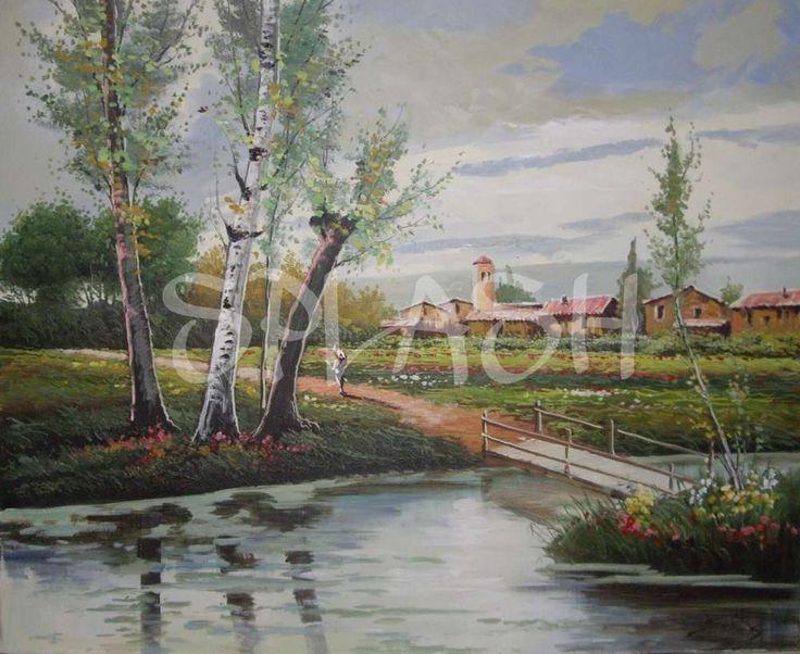 Cuadro de paisaje con arboles SP394