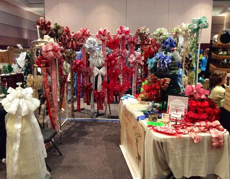 Christmas Craft Booth Ideas Part - 22: Custom Bows By Jamiu0027s 2014 Holiday Craft Booth @ WA Christmas Boutique U0026  Craft ...