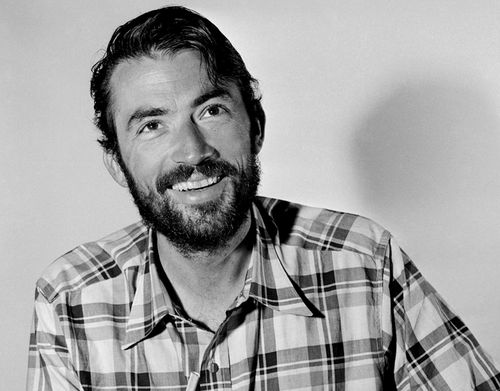 the only thing more handsome than gregory peck is a bearded gregory peck. hot.fucking.damn
