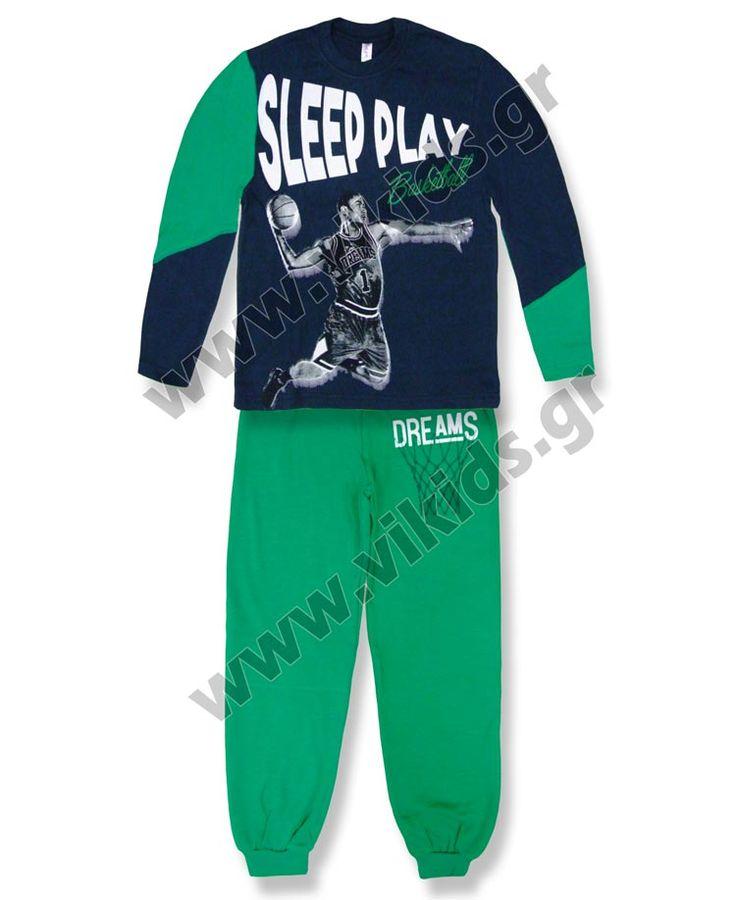 """ΣΕΤ πυτζάμες """"SLEEP PLAY"""", από βαμβακερό ιντελόκ, για αγόρια σε μεγέθη 4-14."""